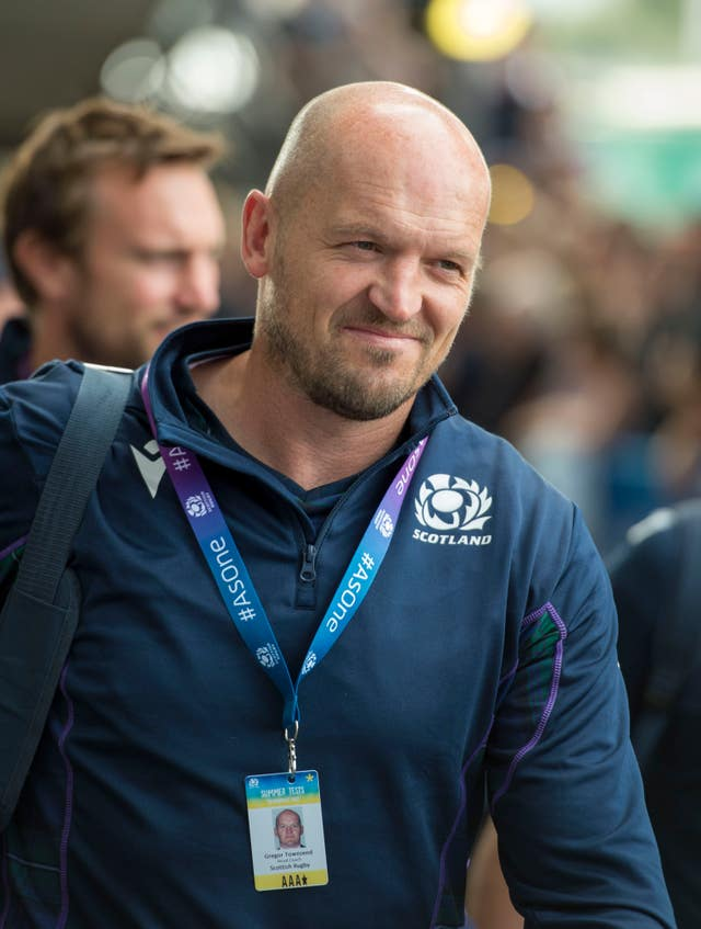 Gregor Townsend is pleased with his squad