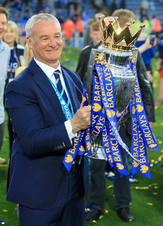 Ranieri won the Premier League title in 2015-16 with Leicester