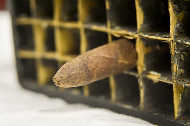 The cigar once smoked by Isambard Kingdom Brunel at the ss Great Britain in Bristol (Ben Birchall/PA Wire).