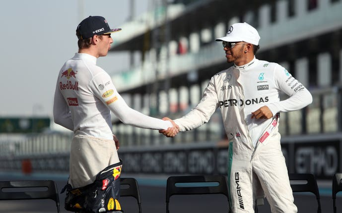 Lewis Hamilton and Max Verstappen