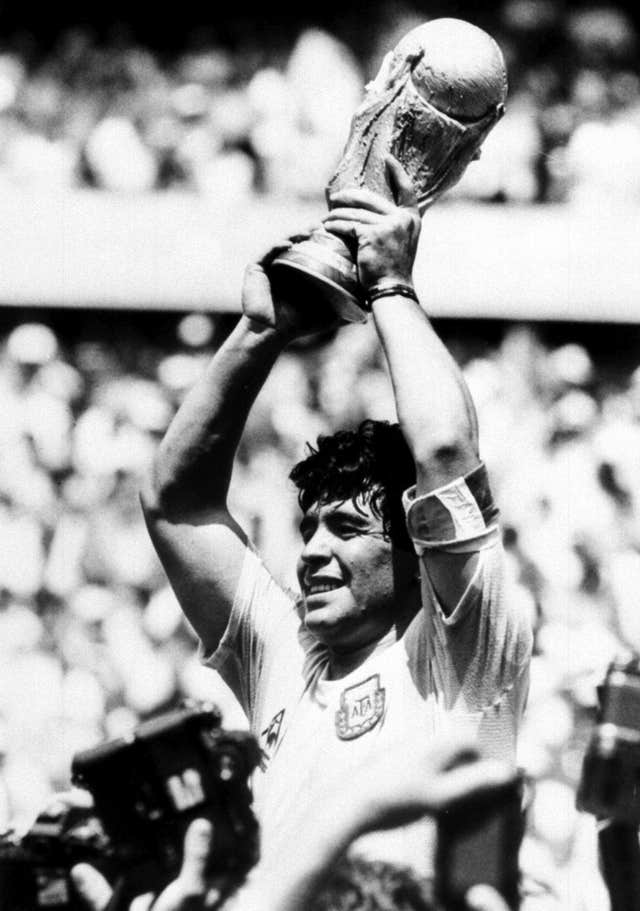 Maradona was the inspiration for Argentina's World Cup triumph in 1986