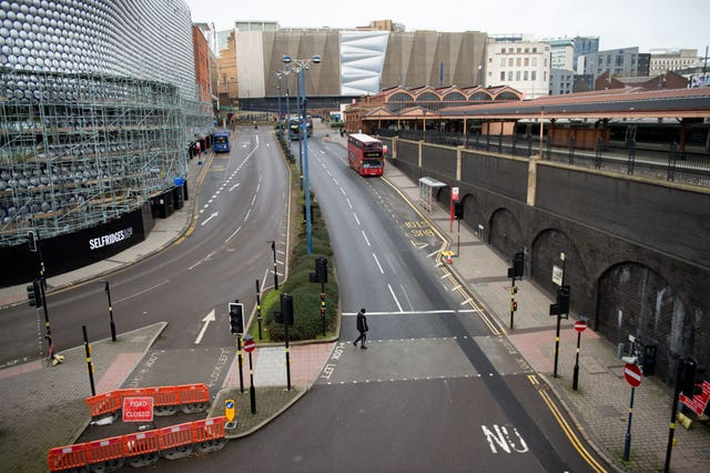 Birmingham during the Covid-19 lockdown