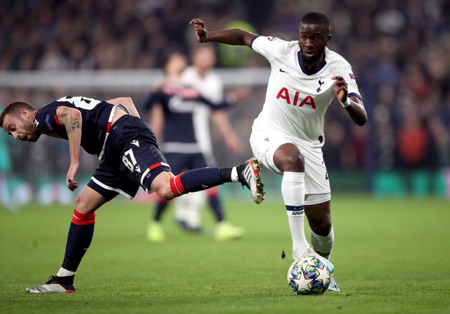 Tanguy Ndombele (right) was one of three big-money arrivals at Tottenham this summer