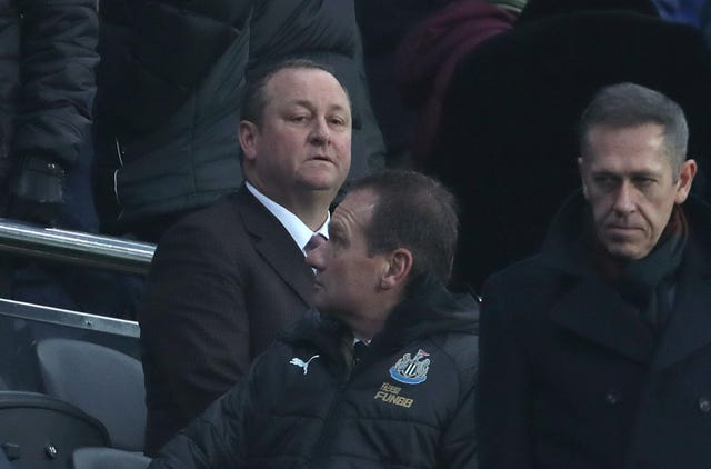 Mike Ashley, left