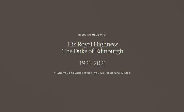 Duke of Edinburgh death