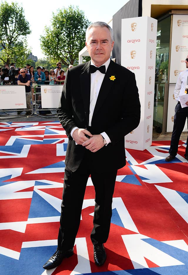 Huw Edwards on the red carpet