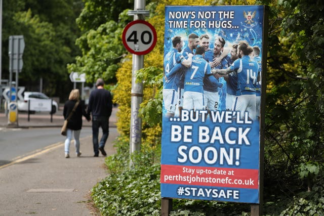 St Johnstone's McDiarmid Park and other grounds are shut