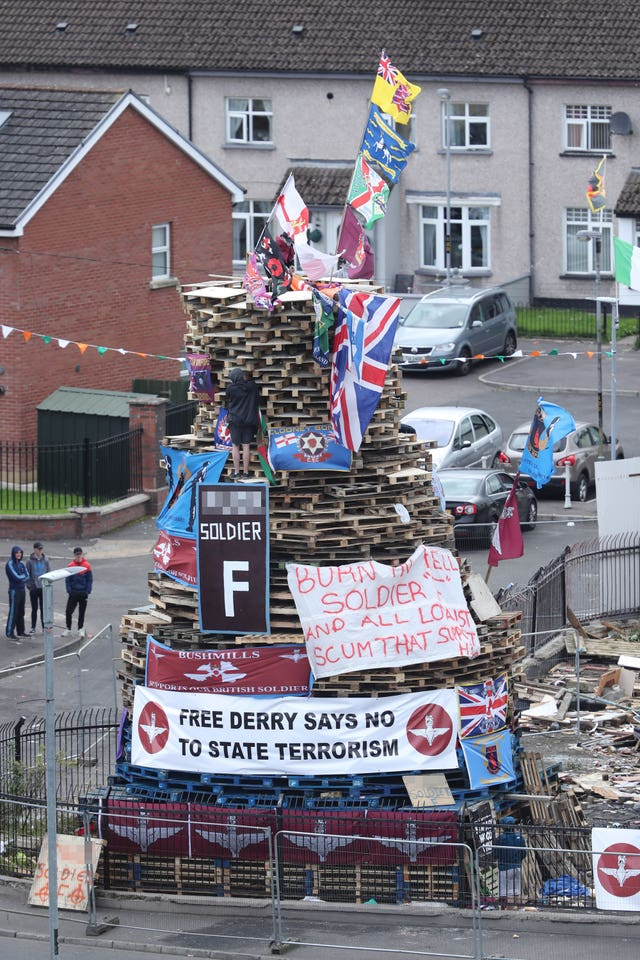 Londonderry bonfire