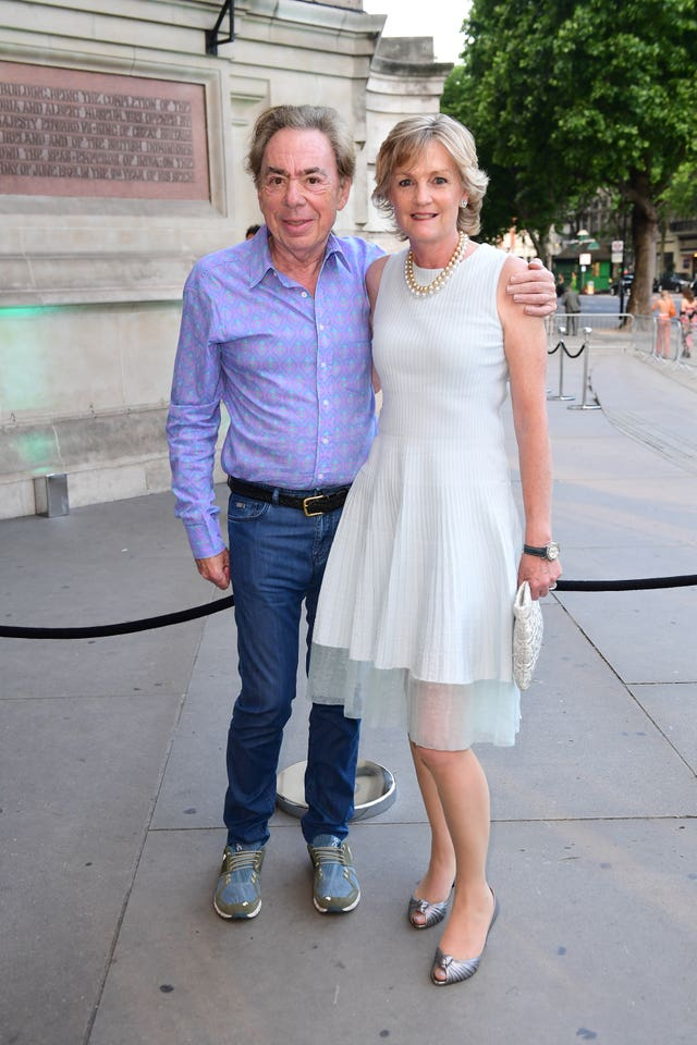 Andrew LLoyd Webber and wife Madeleine Gurdon (Ian West/PA)
