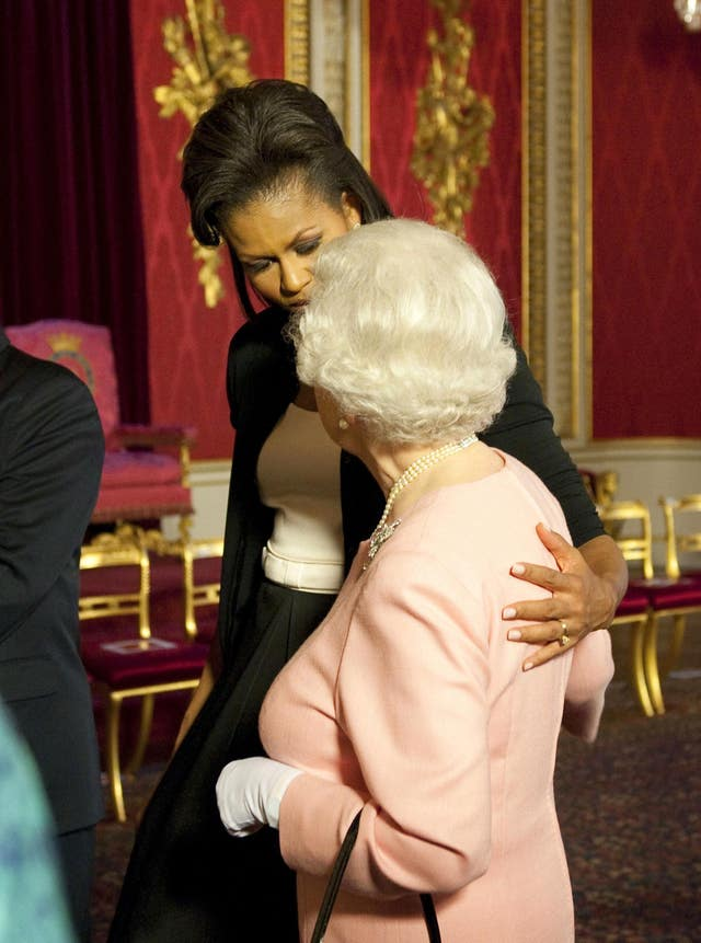 The Queen and Mrs Obama