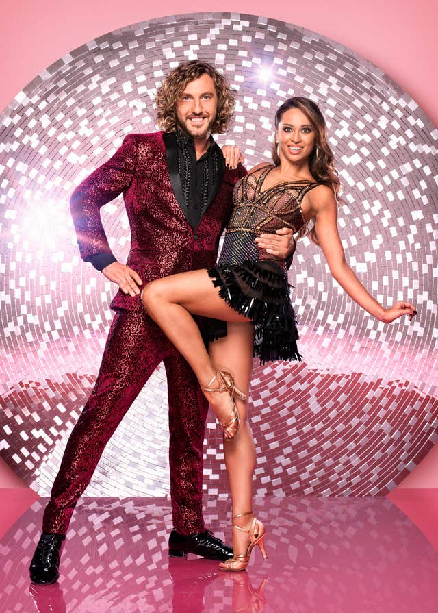 Strictly Come Dancing's Seann Walsh with his dance partner Katya Jones