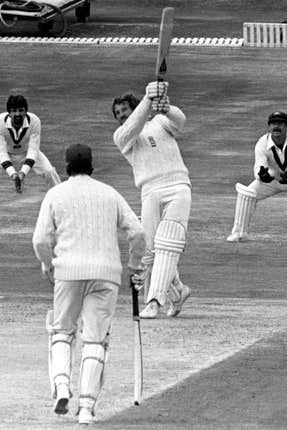 Ian Botham hits out against Australia at Headingley in 1981