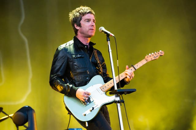 Noel Gallagher on stage