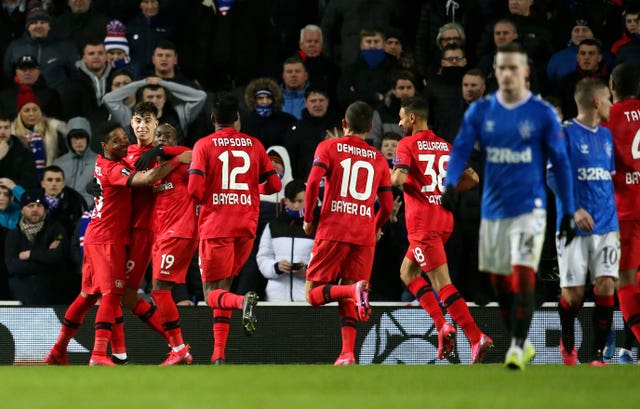 Rangers will need to overturn a 3-1 deficit against Bayer Leverkusen is they are to progress in the Europa League