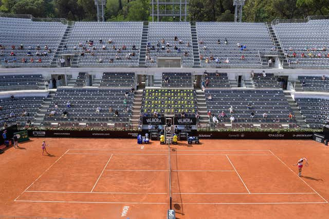 A crowd of 1,000 were able to witness Simona Halep beat Garbine Muguruza in the semi-finals of the Italian Open