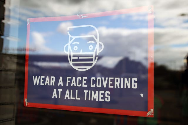 Face covering sign