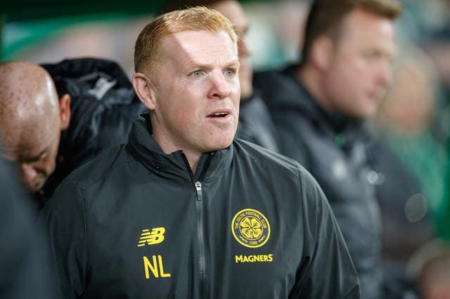 Celtic manager and former team-mate Neil Lennon was left