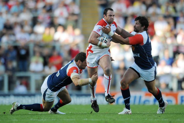 Adrian Morley, left, is the only Englishman to win both the Super League and NRL Grand Final