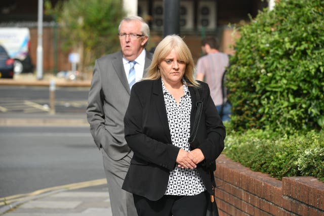 Sherry Bray and Christopher Ashford arriving at a previous court hearing (Ben Birchall/PA)