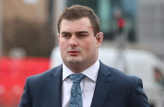 Rory Harrison arrives at Belfast Crown Court (Niall Carson/PA)