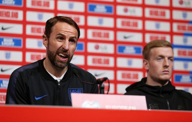 Gareth Southgate and Jordan Pickford addressed the media at Wembley on Thursday