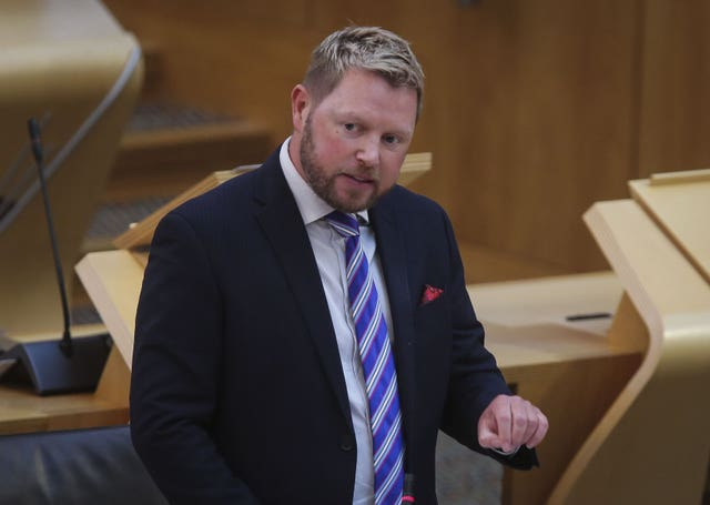 Jamie Greene in Holyrood