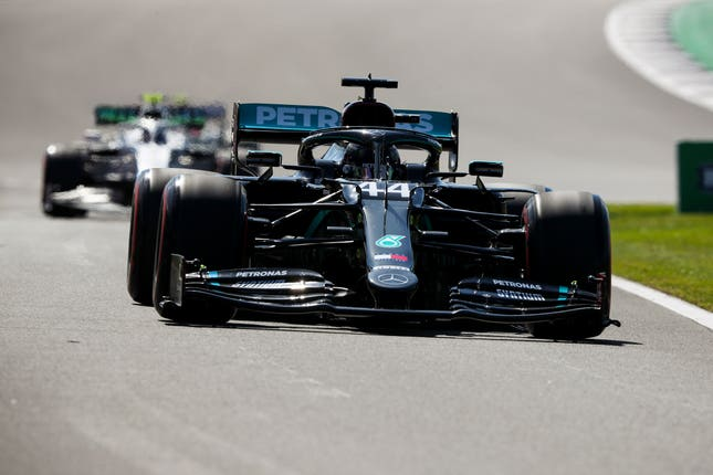 Mercedes' Lewis Hamilton during free practice for the British Grand Prix at Silverstone