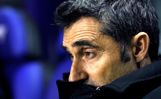 Barcelona coach Ernesto Valverde named a much-changed side