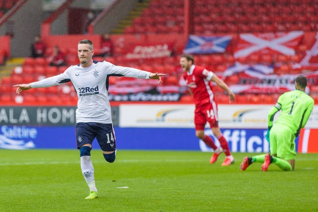 Ryan Kent scored the only goal of the game at Pittodrie