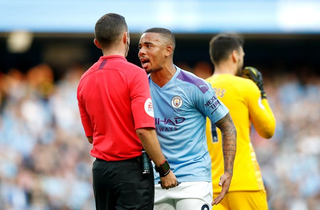 Gabriel Jesus had a goal disallowed in one high-profile use of VAR