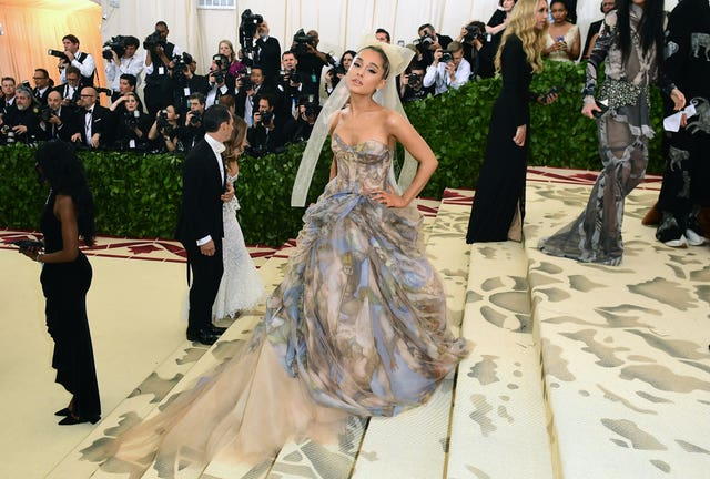 Ariana Grande wore a Vera Wang dress for the Met Gala (Ian West/PA Wire)