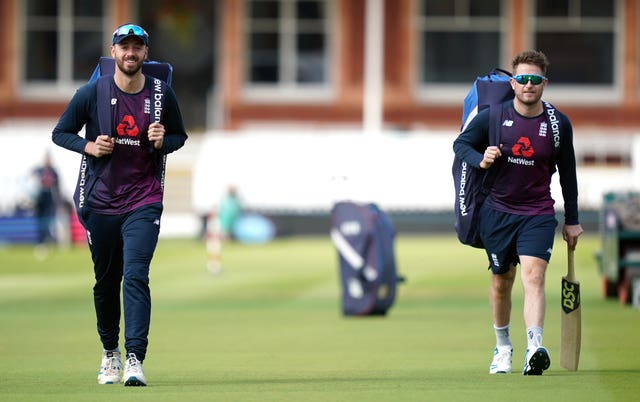 James Vince, left, and Liam Dawson were part of the England squad which won the 2019 World Cup (John Walton/PA)