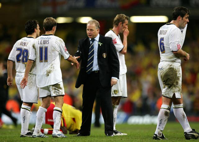 Kevin Blackwell fell one game short of guiding Leeds back to the Premier League