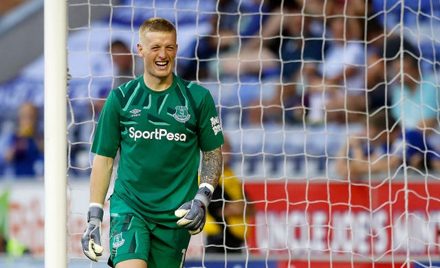 Jordan Pickford welcomes the competition for a place