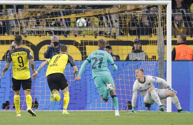 Marc-Andre Ter Stegen pulled off a string of impressive saves. (AP)