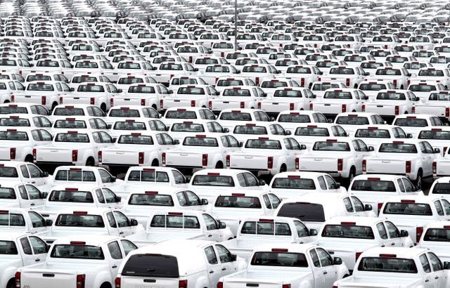 New car demand slump