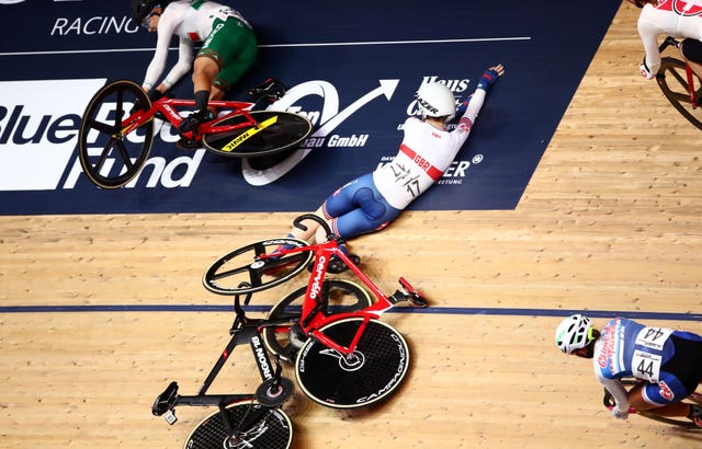 Laura Kenny suffered a nasty fall at the World Championships in Berlin