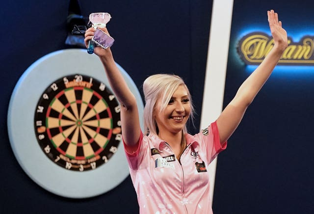 Fallon Sherrock after her 4-2 defeat to Chris Dobey in the last 16 of the PDC World Darts Championship