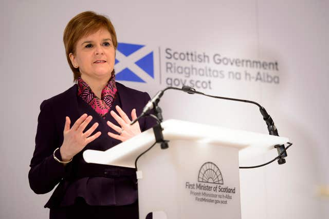 Nicola Sturgeon launches Scottish Government Brexit analysis (John Linton/PA)
