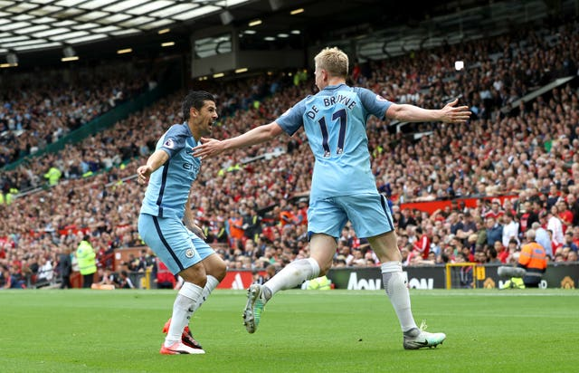 Kevin De Bruyne opened the scoring for City at Old Trafford in 2016