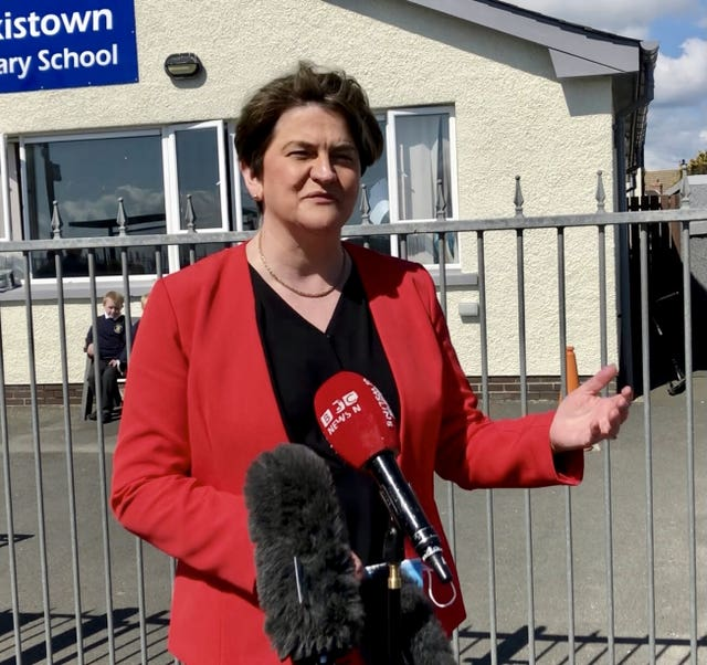 Arlene Foster visits primary school