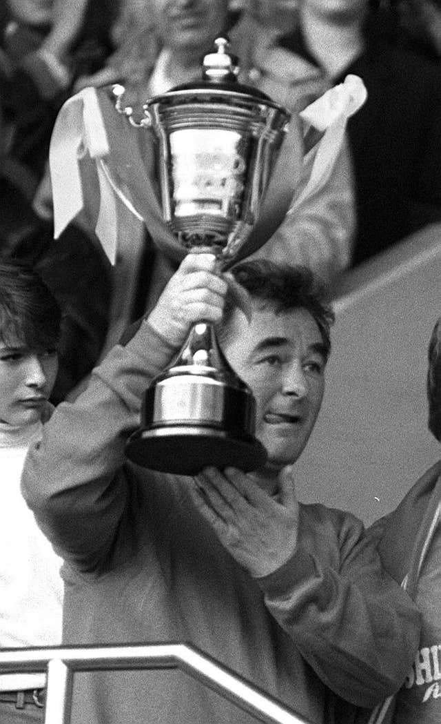 Clough won trophies with Derby and Nottingham Forest