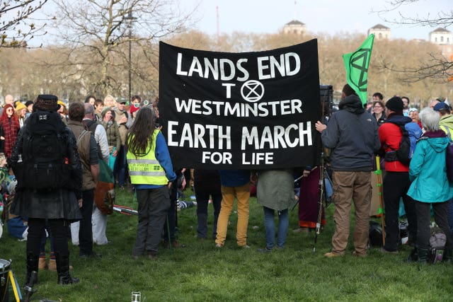 Extinction Rebellion Protesters