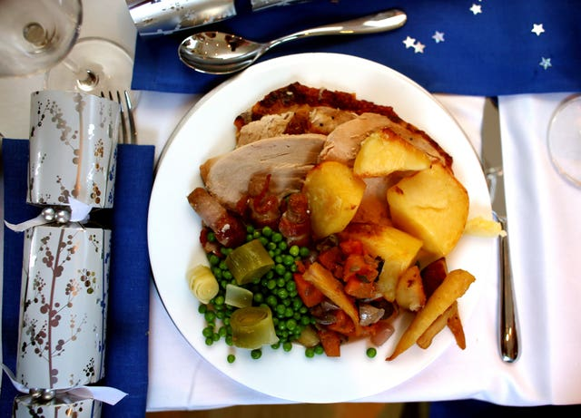 Experts at the Royal Agricultural University have shown how this summer's heatwave affected the production of the traditional Christmas dinner (David Davies/PA)