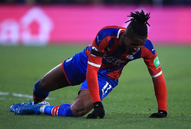 Wilfried Zaha had a penalty appeal waved away