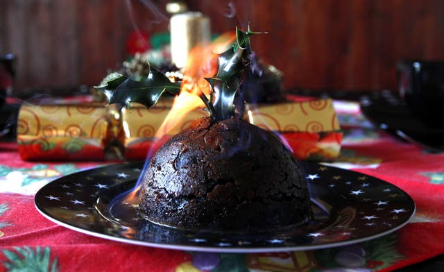 Christmas puddings were unaffacted by the weather, according to the university (Peter Byrne/PA).