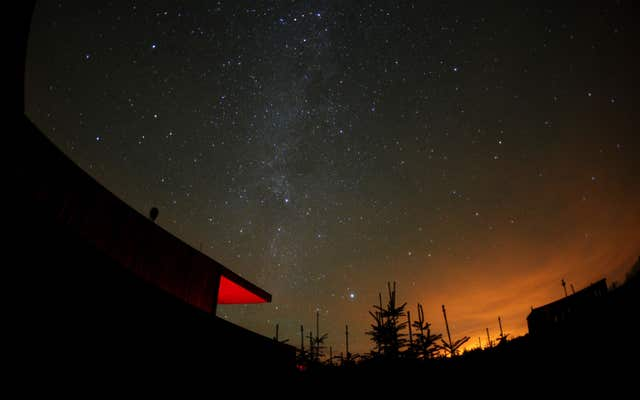 Stars in the Milky Way pictured at the Kielder observatory, Northumberland (Owen Humphreys/PA)