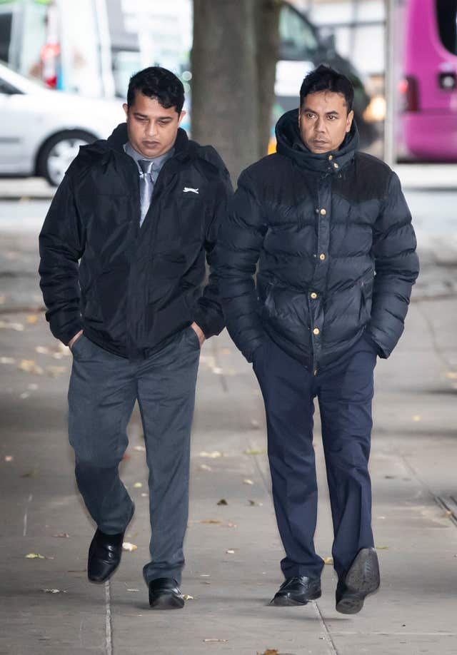Harun Rashid and Mohammed Kuddus at Manchester Crown Court