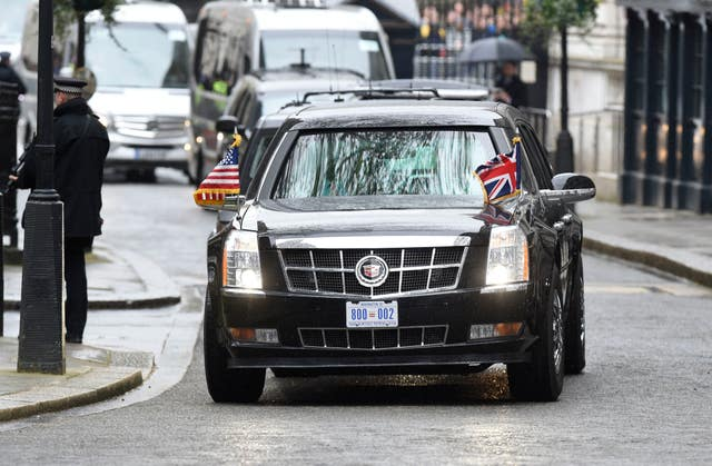 The President's official car is nicknamed The Beast (Lauren Hurley/PA)