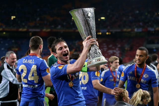 The Europa League crown followed in 2013